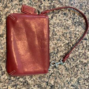 Red coach coin purse
